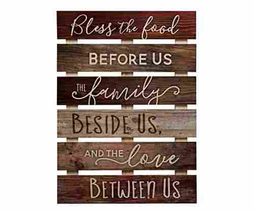 Bless the Food Before Us – Solid Pine Wall Plaque