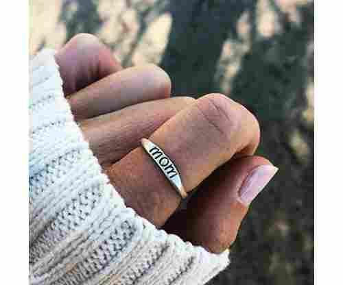 "Rurah Fashion Women's ""Mom"" Ring"