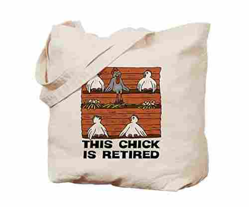 CafePress – Retired Chick – Natural Canvas Tote Bag
