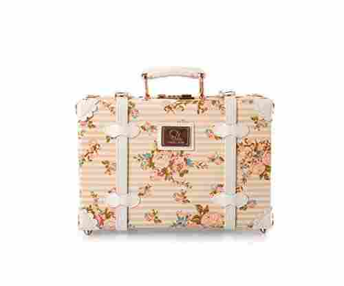 13 Inch Pu Leather Small Suitcase/Floral Decorative Box