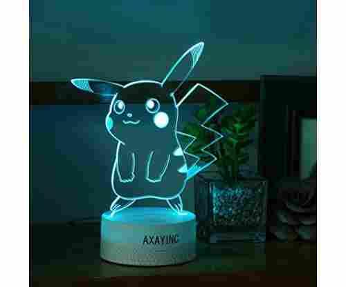 3D Night Light LED Illusion Desk Table Lamp Toy – Pikachu