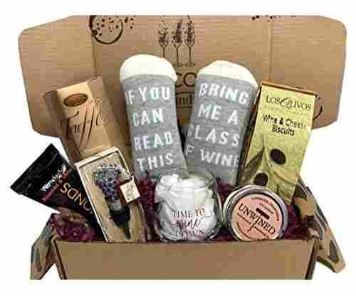 Wine Lovers Basket Box