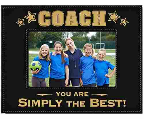 COACH Engraved Leatherette Picture Frame