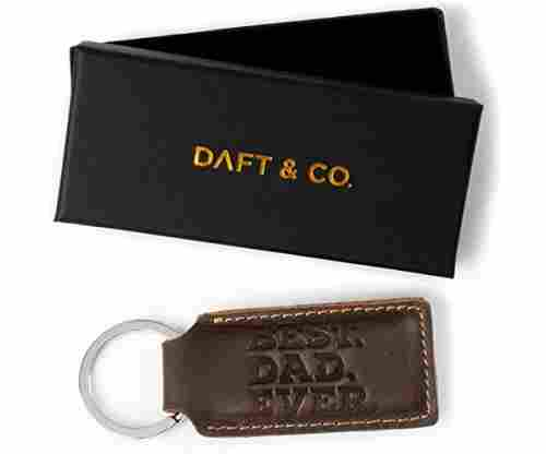 Daft and Co. Premium Genuine Leather Keychain and Gift Box