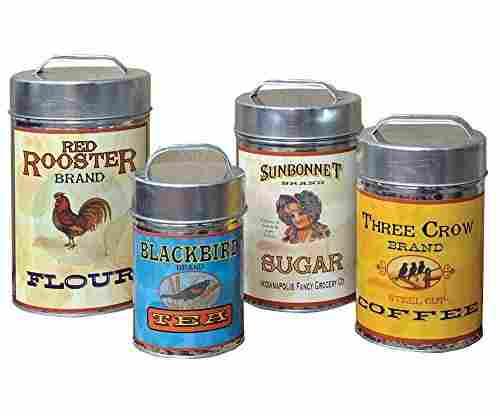 Vintage Canisters Food Safe (Set of 4)