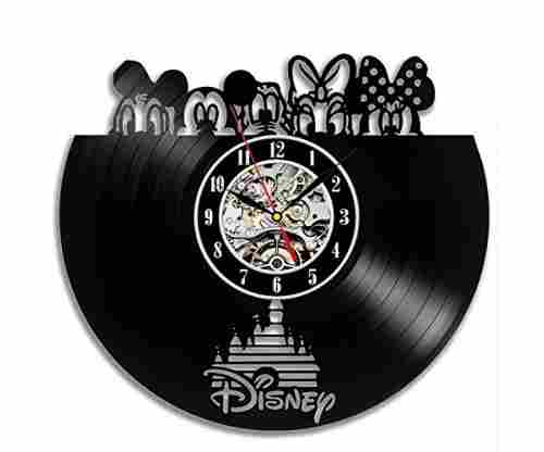 Disney Popular Characters Vinyl Wall Clock Gift