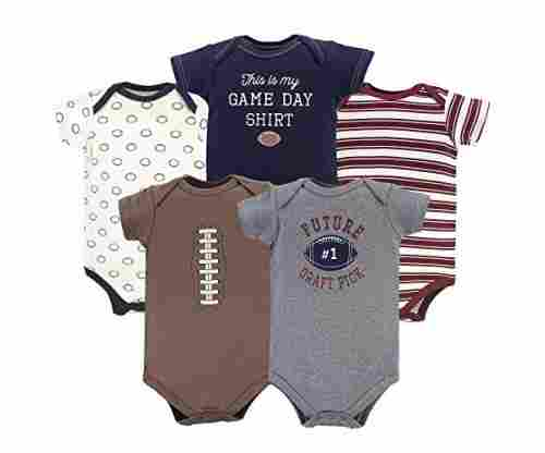 Hudson Baby Short Sleeve Bodysuits – 3 Pack