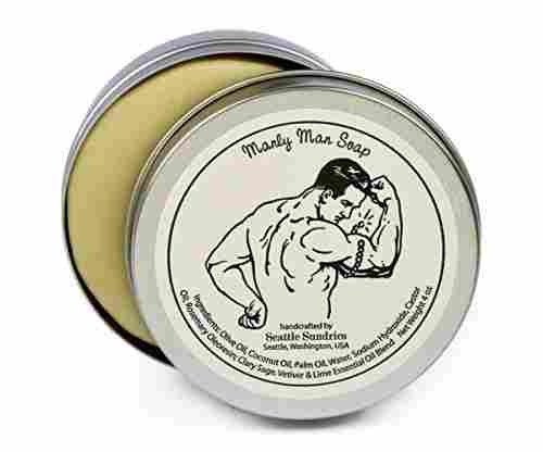 Manly Man Soap -100% Natural Skin Care Bar