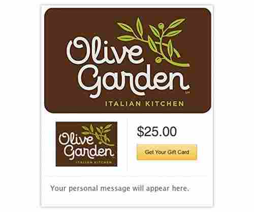 Olive Garden: Gift Cards (Email Delivery)