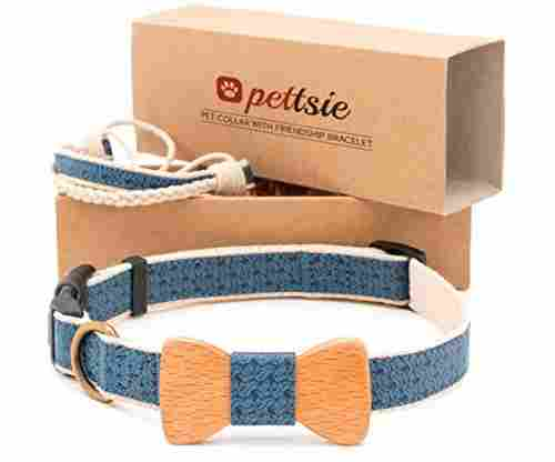 Pettsie Dog Collar Bow Tie and Friendship Bracelet