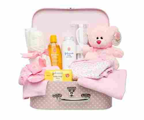 Newborn Baby Gift Set in Keepsake Box in Pink or Blue