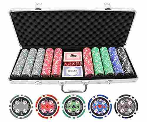 500pc Casino Ace Poker Chips Set