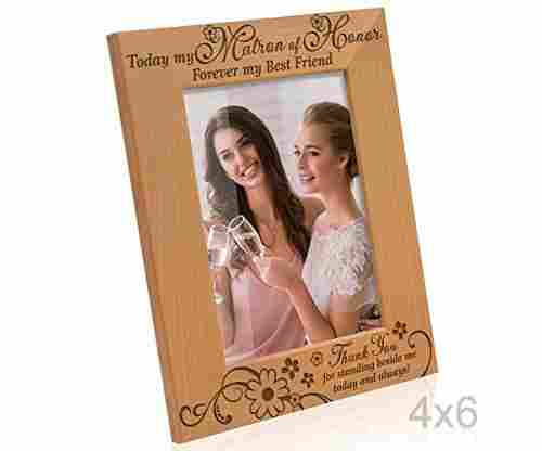 Kate Posh Photo Frame – Today my Matron of Honor, Forever my Best Friend