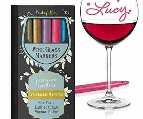 Wine Glass Markers by Best of Lucy