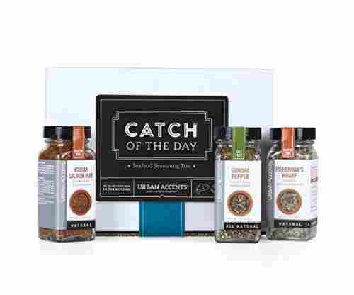 Urban Accents Catch of the Day Seafood Spices and Seasoning Gift Set