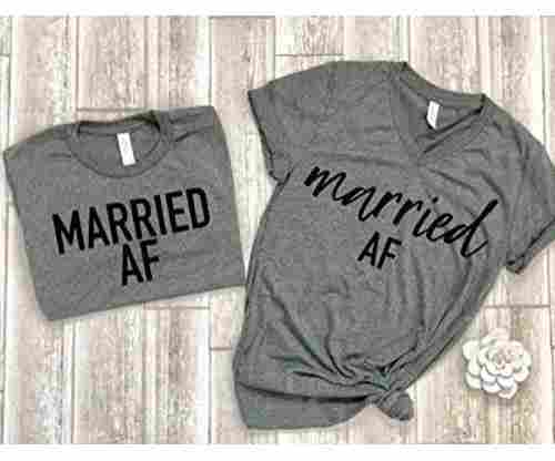 Married AF Matching Couple Tees