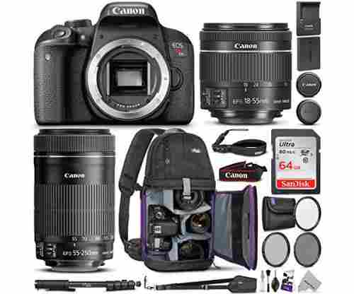 Canon EOS Rebel T7i DSLR Camera Bundle