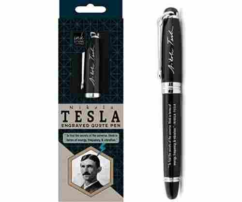 Nikola Tesla Engraved Quote Pen