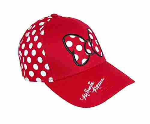 Disney Women's Minnie Mouse Polka Dots Baseball Hat