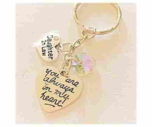 Silver Charm Keychain for Daughters
