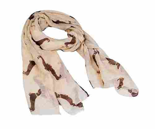 Fashion 9 Color Dog Print Scarf