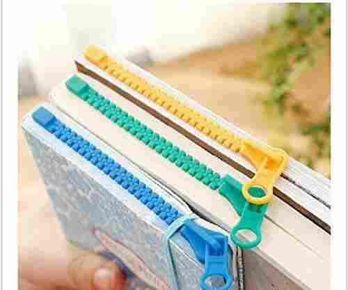 Novelty Zipper Bookmark