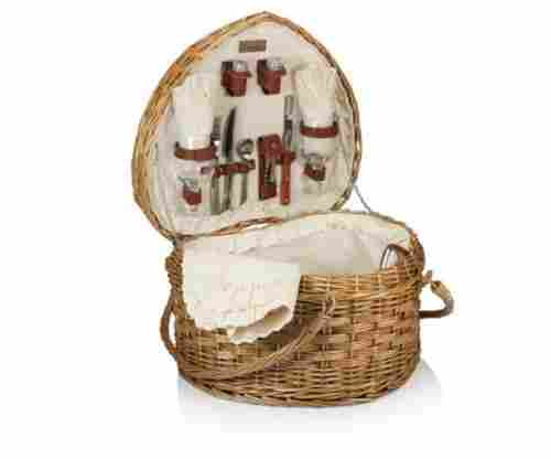 Picnic Time 'Heart' Willow Picnic Basket