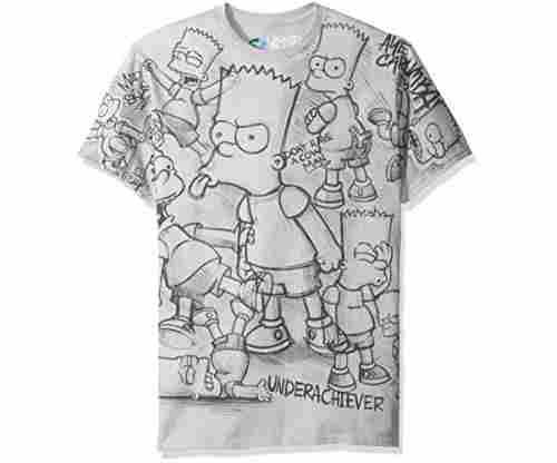 Liquid Blue Men's Simpsons Bart T-Shirt