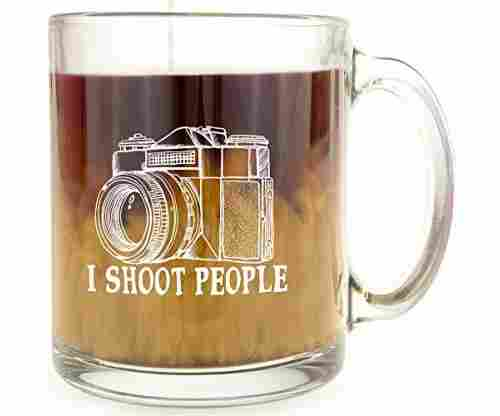 I Shoot People – Glass Coffee Mug
