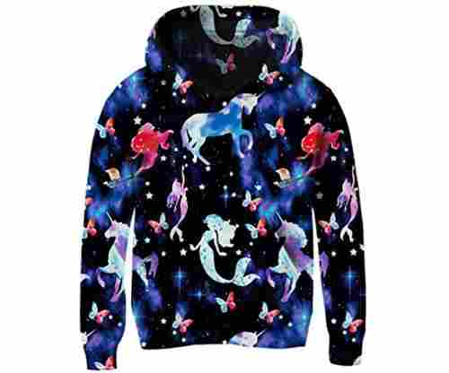 Unicorn Mermaid Hooded Sweatshirt