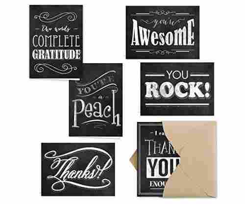 Retro Chalkboard 'Thank You Note' Card Assortment Pack