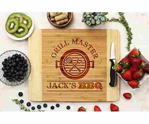 Grill Master, His BBQ Personalized Cutting Board