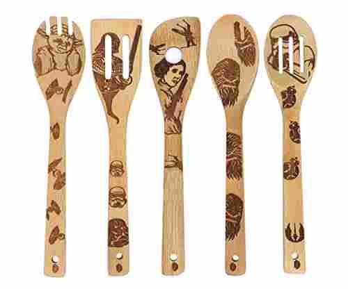 Star Wars Burned Wooden Spoons