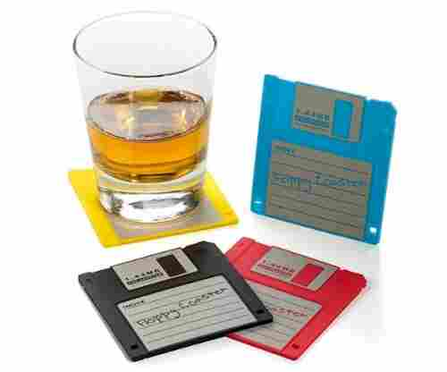 Dunk Trading Floppy Disk Drink Coasters