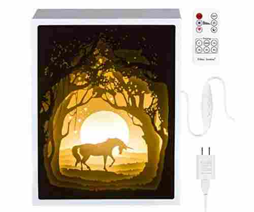 Papercut Light Boxes, Night Light Lamp of Creative Light Paintings