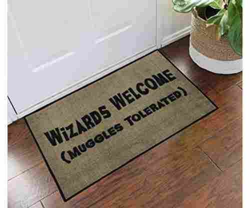 Harry Potter Mat:  Wizards Welcome/Muggles Tolerated