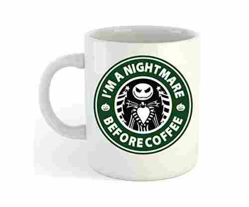 "Skellington ""I'm A Nightmare Before Coffee"" Mug"