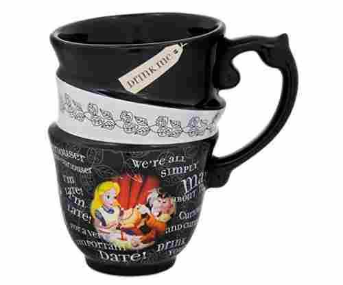 Alice in Wonderland Triple Stack Quotes Ceramic Cup