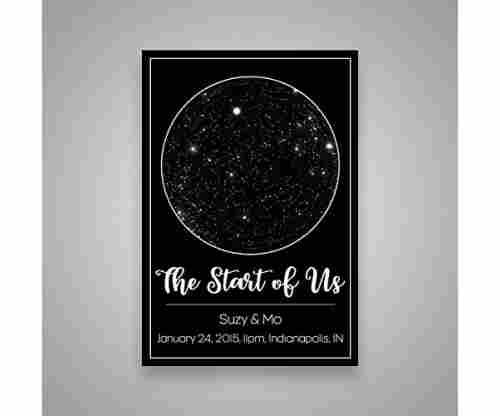 Custom Personalized Star Constellation Map – Star Chart