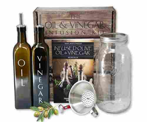 Texas Jack's Famous Olive Oil and Vinegar Infusion Kit with Recipe and Instruction Booklet