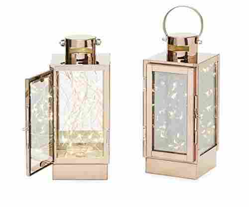 Rose Gold Flameless Lanterns