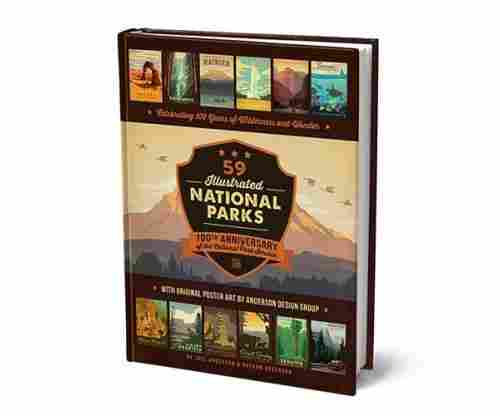 59 Illustrated National Parks – Hardcover: 100th Anniversary