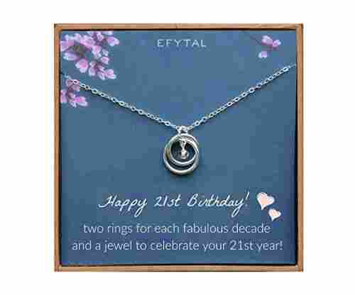 Efy Tal 21st Bday Sterling Silver Necklace