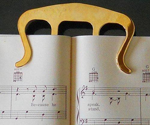 Gold Clip Music Bookmark