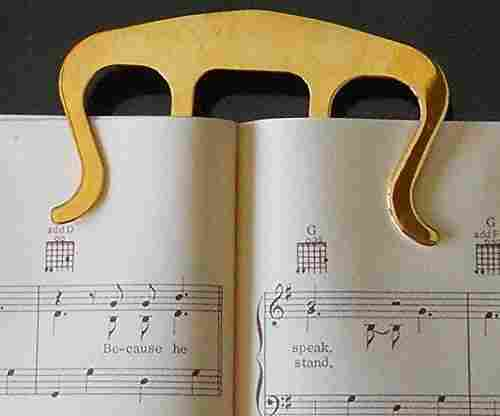 Gold Clip Music Bookmark