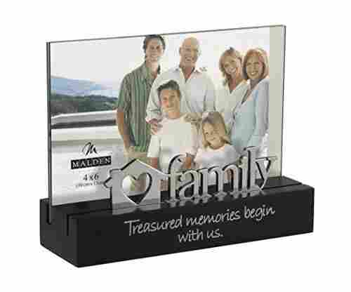 Family Desktop Expressions with Silver Word Attachment Picture Frame