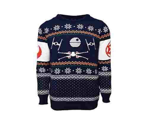 Star Wars Official X-Wing Vs. Tie Fighter Christmas Jumper/Ugly Sweater