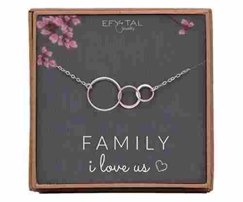 Family, I Love Us – Sterling Silver Necklace