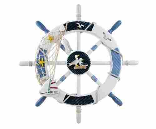 WINOMO 18-Inch Wheel – Nautical Wall Decor