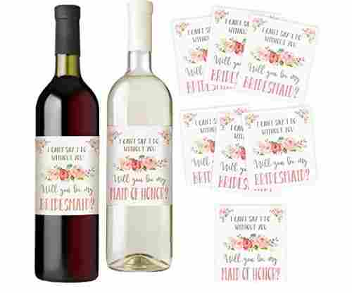 I Can't Say I Do Without You | Set of 7 Wine Bottle Labels